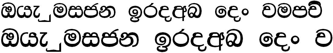4u Chami Sinhala Font