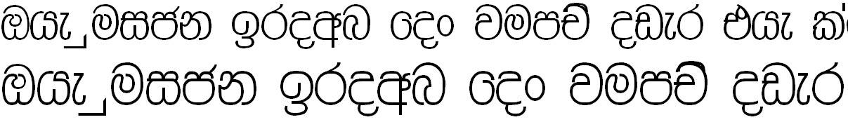 Aa Ruwan Sinhala Font