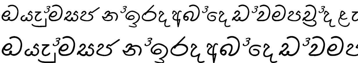 Chamath Huru Sinhala Font