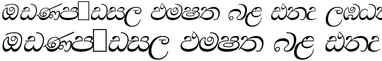 SIN Walawe Italic Sinhala Font