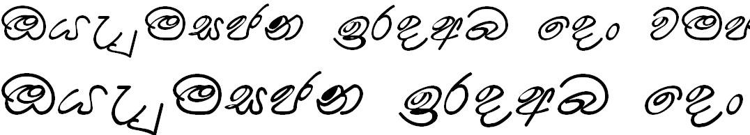 Somi Dusantha Sinhala Font