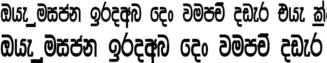 Somi Hansika Sinhala Font